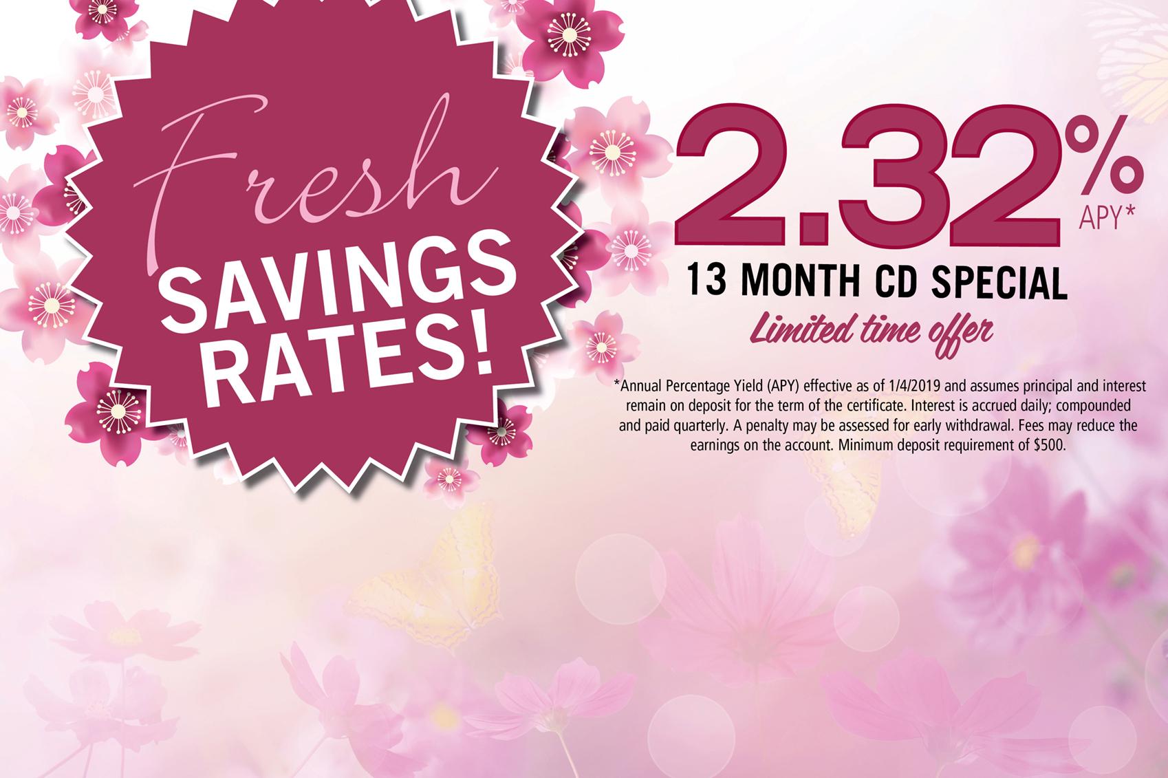 Fresh savings CD rates