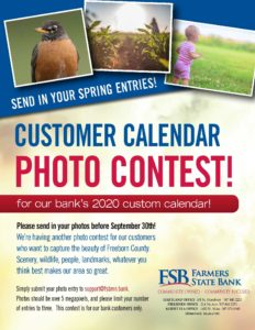 2020 customer calendar photo contest